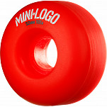 Mini Logo Wheel C-cut 52mm 101A Red 4pk