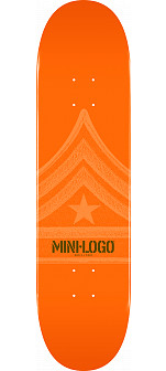 Mini Logo Quartermaster Skateboard Deck 127 Orange - 8 x 32.125