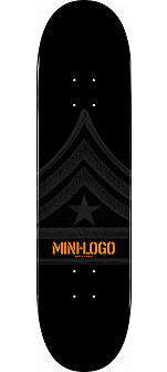 Mini Logo Quartermaster Skateboard Deck 112 Black - 7.75 x 31.75