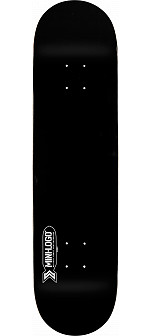 Mini Logo Small Bomb Skateboard Deck 124 Black - 7.5 x 31.375