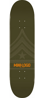 Mini Logo Quartermaster Skateboard Deck 191 Green - 7.5 x 28.65