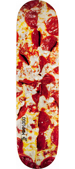 Mini Logo Small Bomb Skateboard Deck 188 Pizza - 7.88 x 31.67