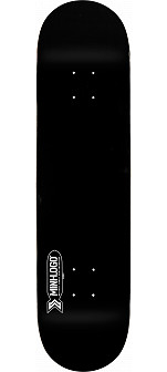 Mini Logo Small Bomb Skateboard Deck 191 Blackl - 7.5 x 28.65