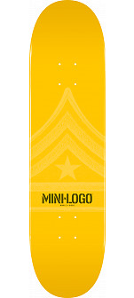 Mini Logo Quartermaster Skateboard Deck 127 Yellow - 8 x 32.125
