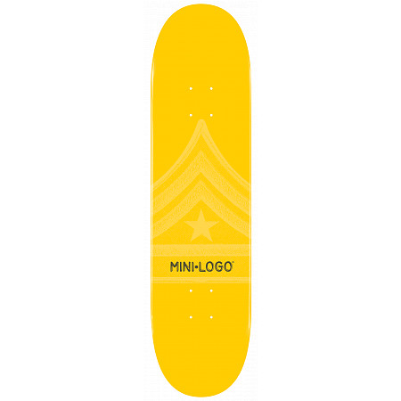 Mini Logo Quartermaster Skateboard Deck 126 Yellow - 7.625 x 31.625