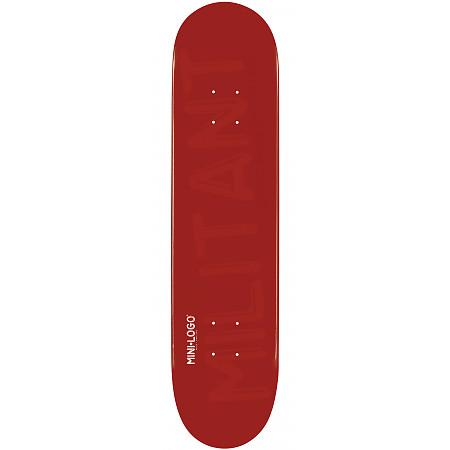 Mini Logo Militant Skateboard Deck 181 Maroon - 8.5 x 33.5