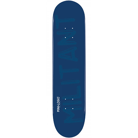 Mini Logo Militant Skateboard Deck 181 Navy - 8.5 x 33.5