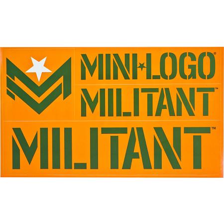 Mini Logo Miltant Single Sticker