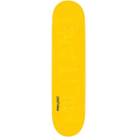 Mini Logo Militant Skateboard Deck 124 Yellow - 7.5 x 31.375