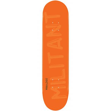 Mini Logo Militant Skateboard Deck 127 Orange - 8 x 32.125
