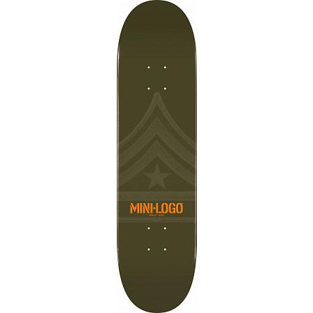 Mini Logo Quartermaster Skateboard Deck 124 Green - 7.5 x 31.375