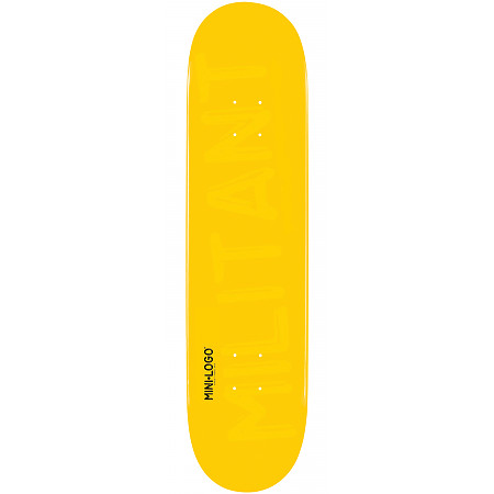 Mini Logo Militant Skateboard Deck 191 Yellow - 7.5 x 28.65