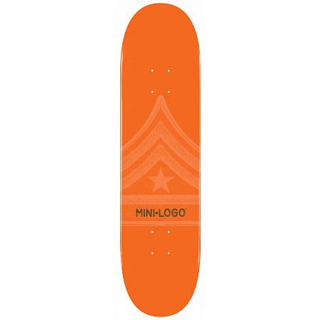 Mini Logo Quartermaster Skateboard Deck 126 Orange - 7.625 x 31.625