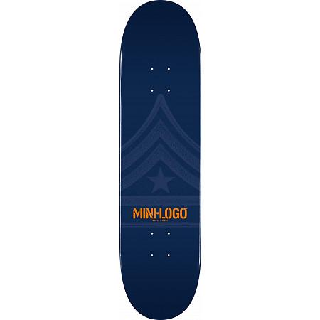 Mini Logo Quartermaster Skateboard Deck 188 Navy - 7.88 x 31.67