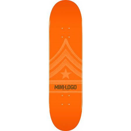 Mini Logo Quartermaster Skateboard Deck 191 Orange - 7.5 x 28.65