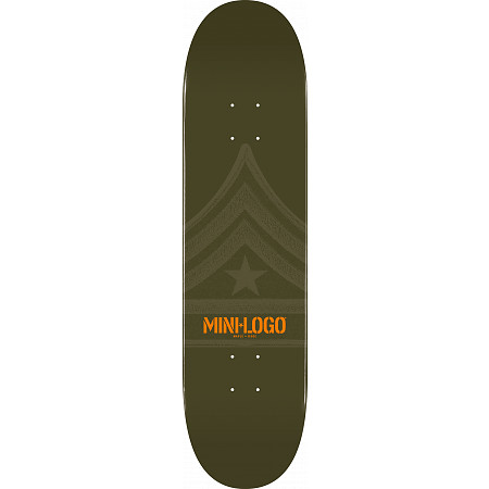 Mini Logo Quartermaster Skateboard Deck 126 Green - 7.625 x 31.625
