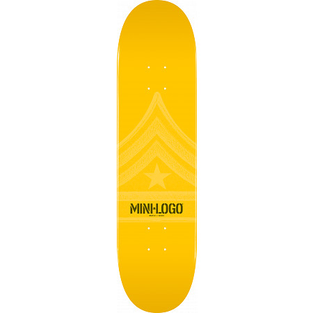 Mini Logo Quartermaster Skateboard Deck 124 Yellow - 7.5 x 31.375