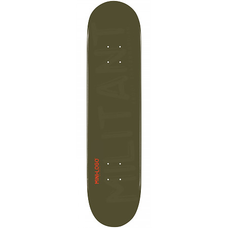 Mini Logo Militant Skateboard Deck 181 Green - 8.5 x 33.5